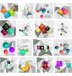 Set of abstract geometric infographic banner vector