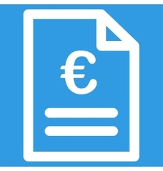 Euro invoice icon vector