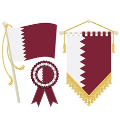 Qatar flags vector