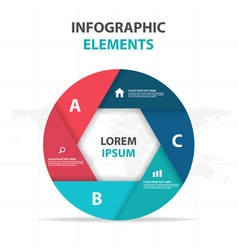 Abstract hexagon circle business infographics vector