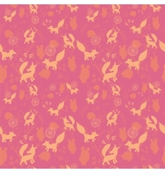 Animal pattern with wild animals vector image vector image
