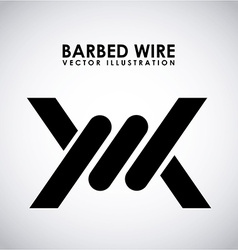 barbed wire design vector image