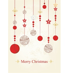 Christmas and New Years Card vector image vector image