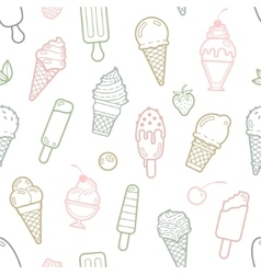 cute pastel ice cream seamless pattern vector image vector image