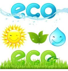 Eco Set vector image