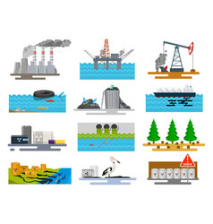 ecological problems in nature vector image