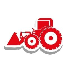 Excavator heavy machinery pictogram icon image vector