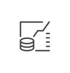 financial graph line icon vector image vector image