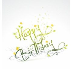 Funny Birthday card vector image vector image