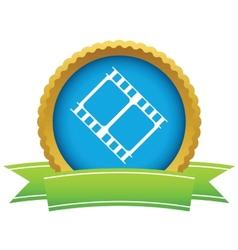 Gold film logo vector image