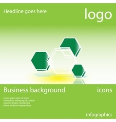 Honeycomb business background vector image