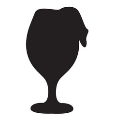 Isolated beer glass vector