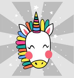 Japanese unicorn vector
