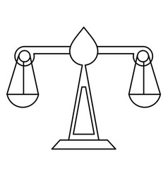 Justice scale law symbol thin line vector