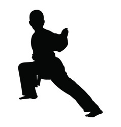 Karate boy silhouette vector
