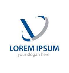 Modern initial v logo vector