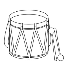Parade drum icon image vector
