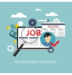 Recrutment strategy business concept external vector