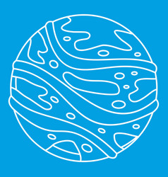 round planet icon outline style vector image vector image