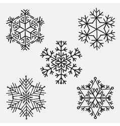 Snowflakes set of snowflake handmade vector