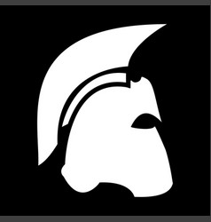 spartan helmet the white color icon vector image