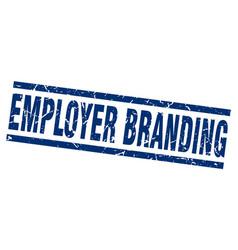 Square grunge blue employer branding stamp vector
