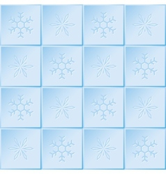 winter pattern of snowflakes vector image