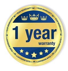 1 year warranty badge vector