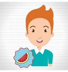 Childhood fruits food healthy vector