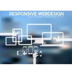 Responsive design kit of electronic gadgets vector
