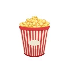 Popcorn street food menu item realistic detailed vector