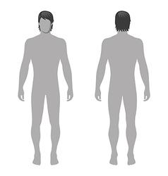 Fashion man full length template figure vector image