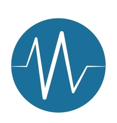 Heart beat pulse monitoring blue background vector