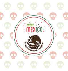 viva mexico invitation party emblem vector image
