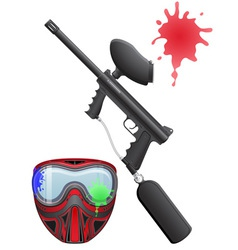 Paintball set vector