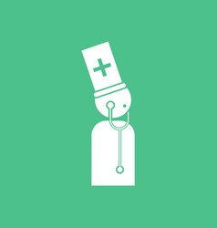 icon doctor with stethoscope vector image