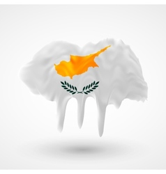 Flag of cyprus painted colors vector