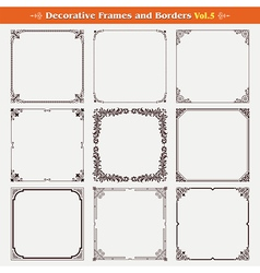Decorative frames and borders 5 vector