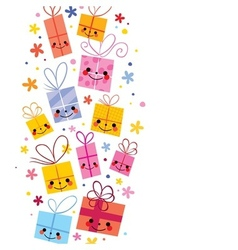 Cute gifts background vector