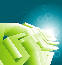 Green technology design wallpaper vector image