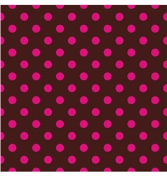 Tile pattern pink polka dots on brown background vector