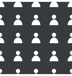 Straight black user pattern vector