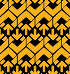 Bright abstract seamless pattern with yellow vector