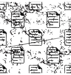Document page pattern grunge monochrome vector