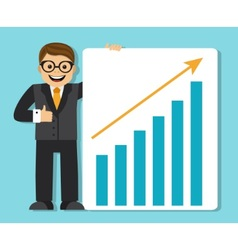 Successful businessman making a presentation vector