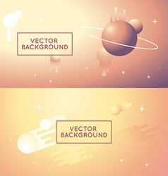 abstract backgrounds in bright gradient colors vector image