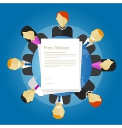 Press release news paper publication vector