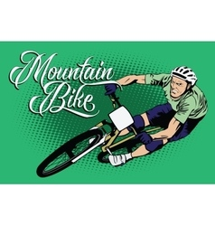 Summer kinds of sports mountain bike vector