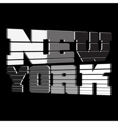 T shirt new york black white gray vector