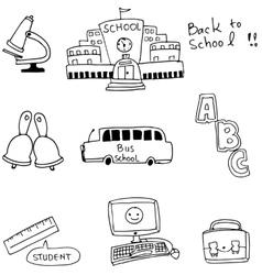 Doodle of school bus computer vector